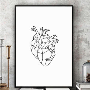 """Light Hearted"" Geometric Art Print"