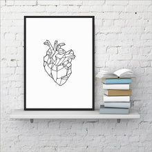 "Load image into Gallery viewer, ""Light Hearted"" Geometric Art Print"
