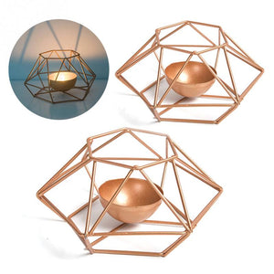 """Metal Works"" Geometric Candle Holder"