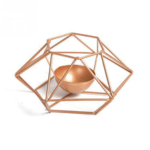 "Load image into Gallery viewer, ""Metal Works"" Geometric Candle Holder"