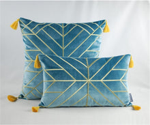 "Load image into Gallery viewer, ""Gatsby"" Embroidered Pillow Cover"