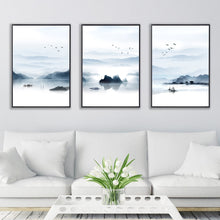 "Load image into Gallery viewer, ""Nordic Watercolor"" Landscape Paintings"