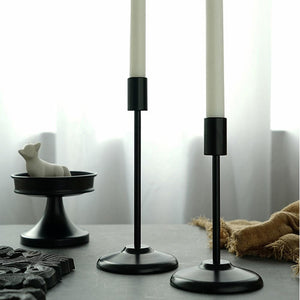 """Matte Black"" Pillar candle holders"