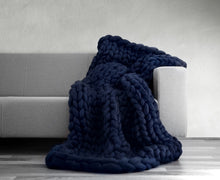 "Load image into Gallery viewer, ""Jumbo Knit"" Wool Blanket"