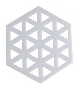 """Bon Hexagon"" Laser Cut Coasters"