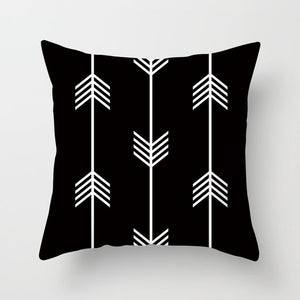 """Statement Pillow"" Black and White Geometric Abstract Decorative Pillowcase"