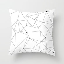 "Load image into Gallery viewer, ""Statement Pillow"" Black and White Geometric Abstract Decorative Pillowcases"