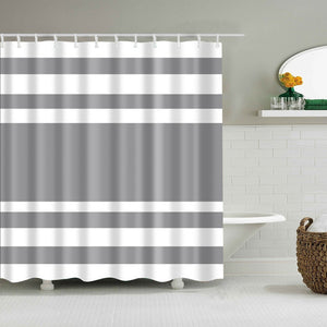 """Greyson Stripe""  Shower Curtain 180x180cm"