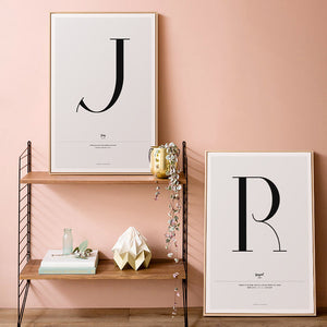 """Deco Letter""  Wall Art Print"