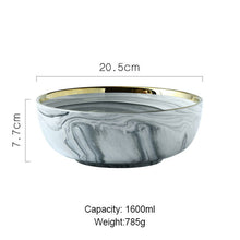 "Load image into Gallery viewer, ""Goldie Tabletop"" Luxury Marble Ceramic Serveware"