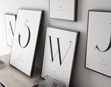 "Load image into Gallery viewer, ""Deco Letter""  Wall Art Print"
