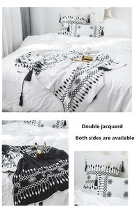 """Brooklyn Boho"" Reversible Throw Blanket"
