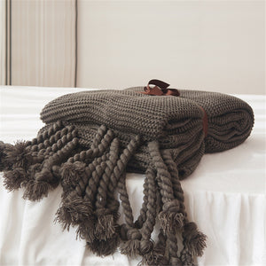 "The ""Oh so Cozy""Jacquard Style Throw Blanket"