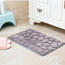 "Load image into Gallery viewer, ""Cobblestone"" Fleece Bathroom Memory Foam Rug"