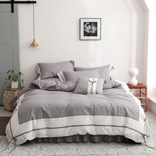 "Load image into Gallery viewer, ""Fleur"" 100% - 500 TC Duvet Cover Set"