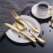 "Load image into Gallery viewer, ""Metalic"" 4 Piece Dinnerware set"