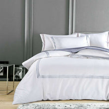 "Load image into Gallery viewer, ""Pure Blanco"" 500 tread count Luxury Hotel Bedding set"