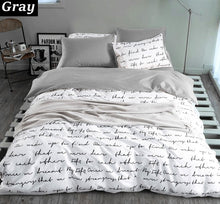 "Load image into Gallery viewer, ""Flip the Script""  3-piece Duvet Cover Set"