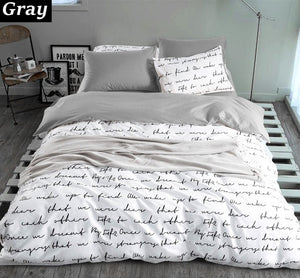 """Flip the Script""  3-piece Duvet Cover Set"