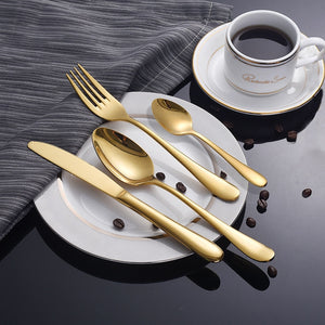 """Metalic"" 4 Piece Dinnerware set"