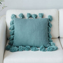 "Load image into Gallery viewer, ""Forever Knit"" Tassle Cushion Cover"