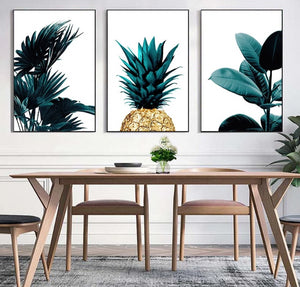 """FeelingTropical"" Palm Leaves Canvas Painting"