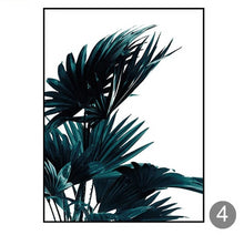 "Load image into Gallery viewer, ""FeelingTropical"" Palm Leaves Canvas Painting"
