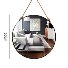 "Load image into Gallery viewer, ""Jackson"" Hanging Mirror with Hemp Rope"