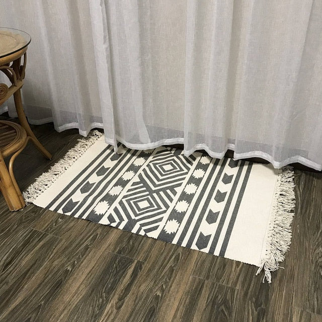 100% Premium Cotton Natural fiber rug