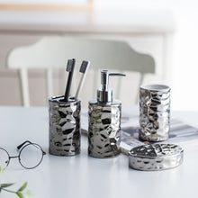 "Load image into Gallery viewer, ""Pewter"" European style ceramic bathroom set"