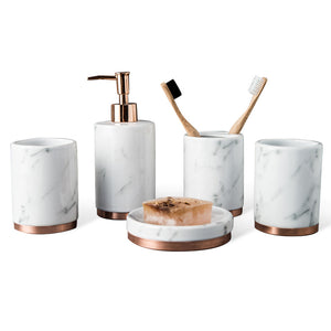 """Tres Chic"" Luxury Bathroom 5pcs set"