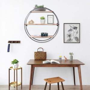 """Well Rounded"" Rustic Modern Floating Shelf"