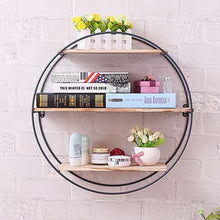"Load image into Gallery viewer, ""Well Rounded"" Rustic Modern Floating Shelf"