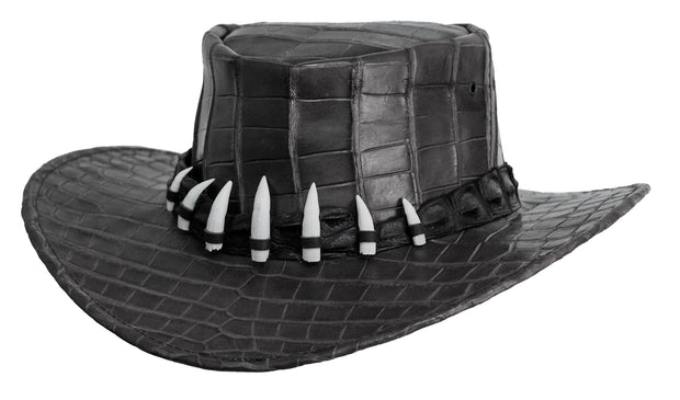 Jacaru 1129 Darwin Crocodile Leather Hat