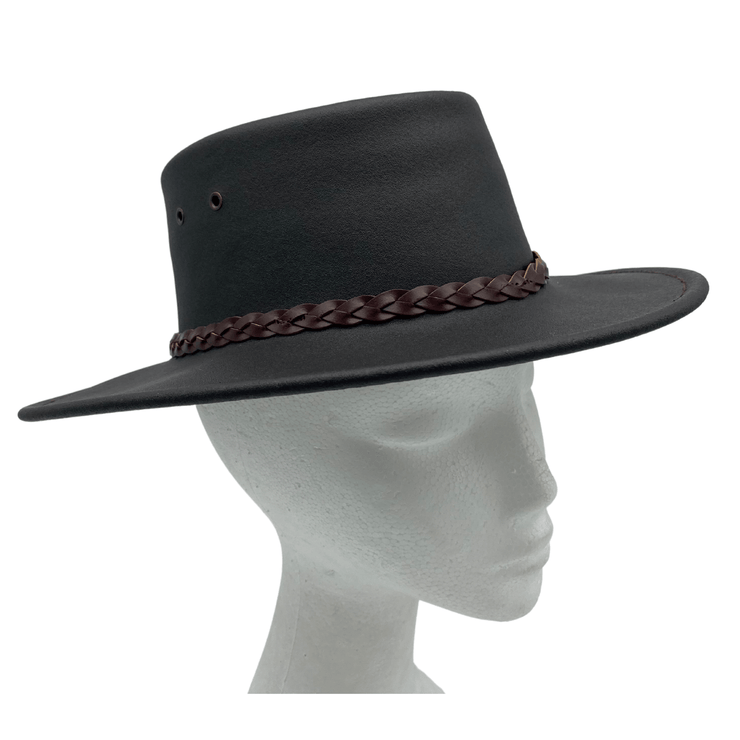 Jacaru 1301W Children's Hat Waxed Leather