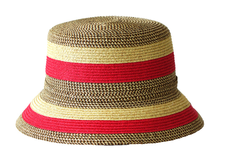 Jacaru 1751 Striped Short Brim Hat
