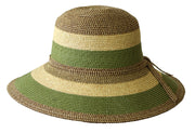 1752 Striped Wide Brim