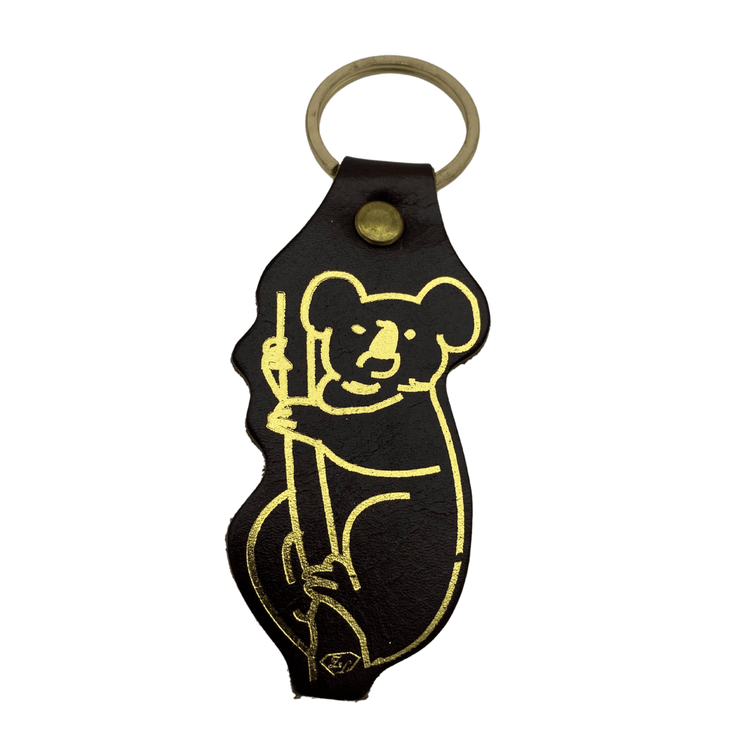 Jacaru 6405 Keyring Koala Shape, Leather