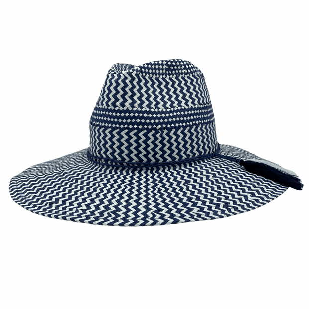 Jacaru 1864 Navy & White Paper Hat