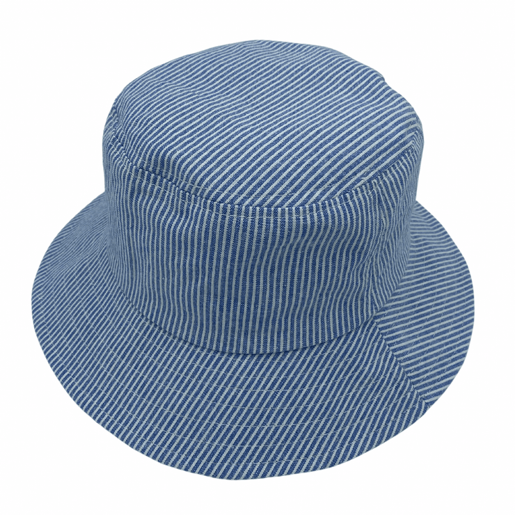 Jacaru 1865 Kids Blue & White Stripe Bucket Hat