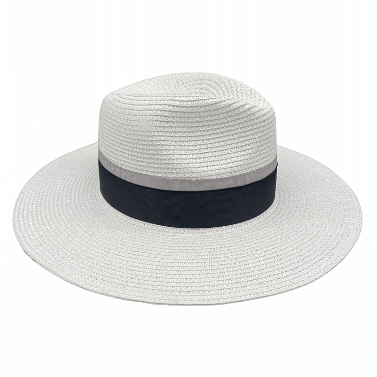 Jacaru 1867 White Panama Hat Ribbon