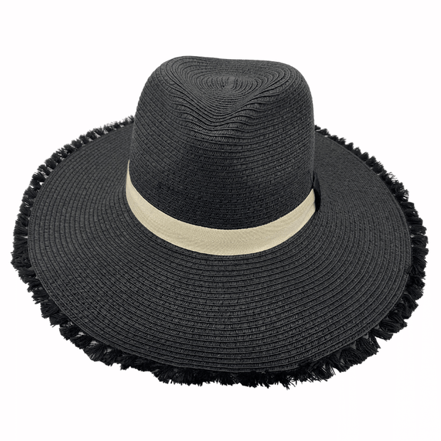 Jacaru 1868 Wide Brim Ladies Hat Black