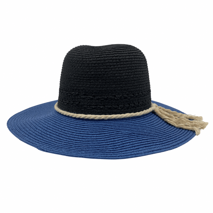 Jacaru 1870 Black & Blue Ladies Hat