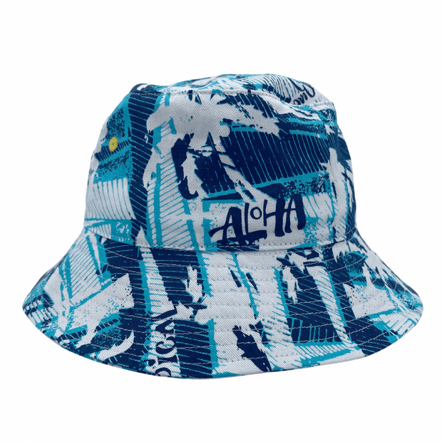 Jacaru 1873 Blue Aloha Bucket Hat