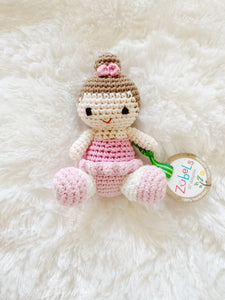 Bella the Ballerina Crochet Rattle