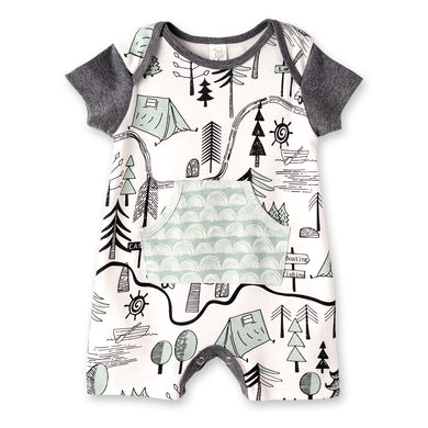 Campout Boy's Shortie Romper