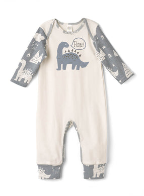 Dino Roar Boy's Long Sleeve Romper