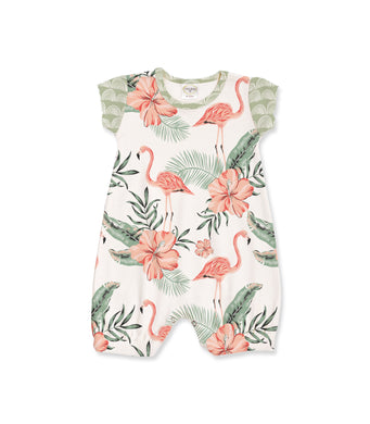 Flamingo Bubble Romper