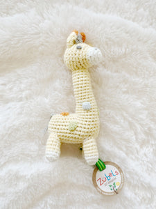Giraffe Crochet Dimple Rattle