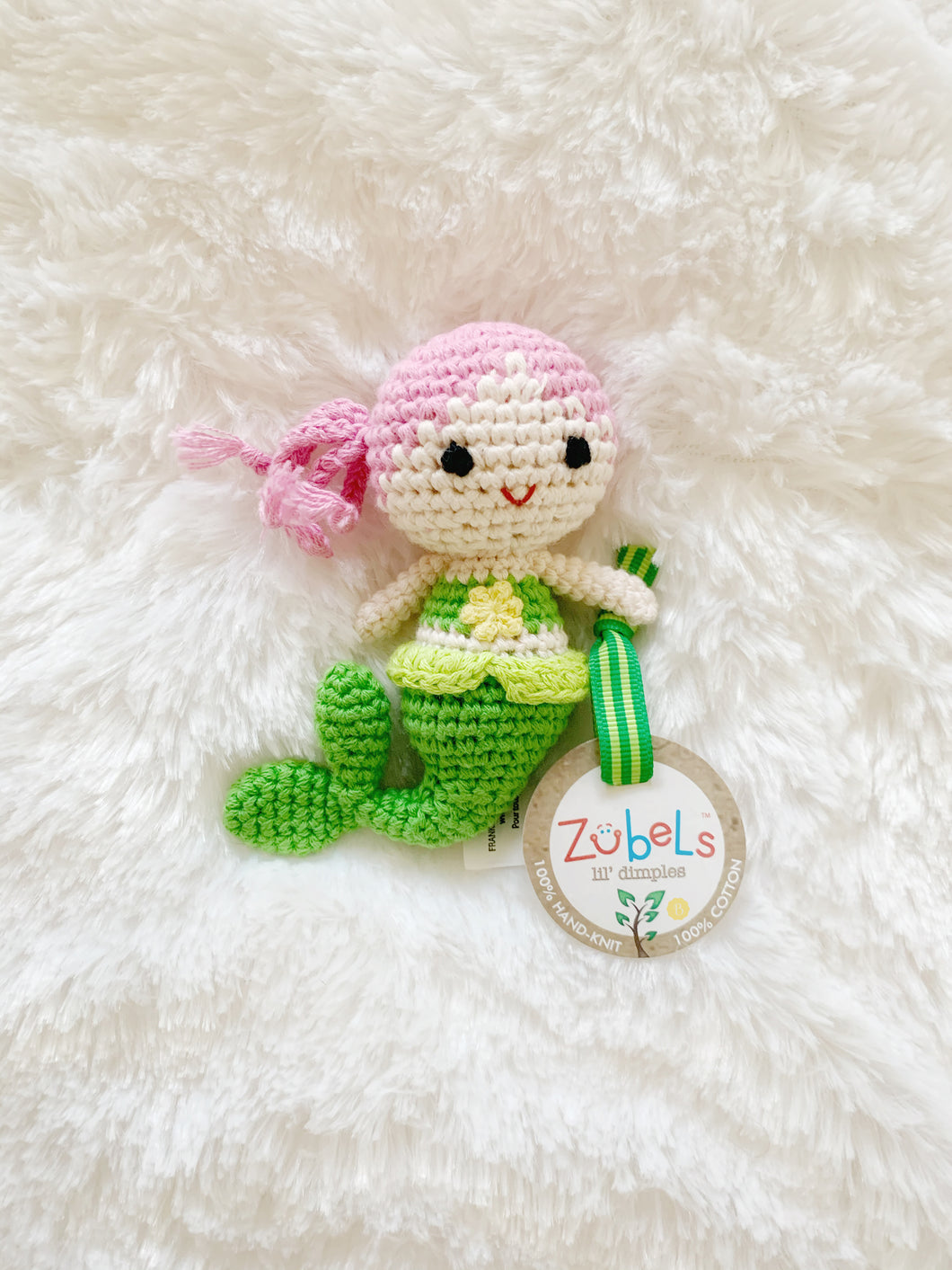 Mermaid Crochet Dimple Rattle
